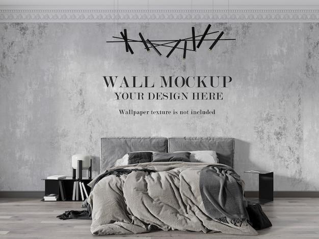 Beautiful neoclassic bedroom wall mockup