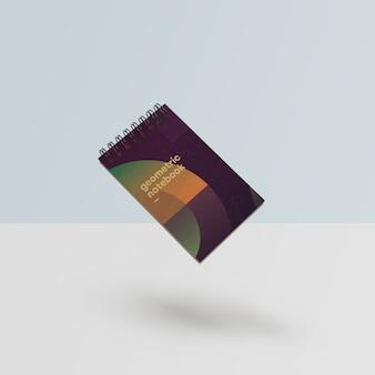 기하학적 스타일 psd에서 아름 다운 노트북 이랑