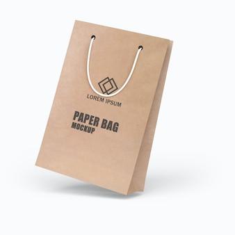 Beautiful paper bag mockup design