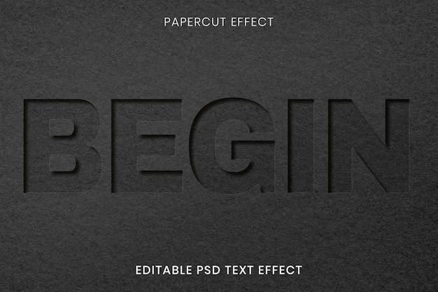 Beautiful paper cut mockup design