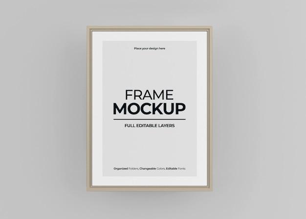 Красивый макет рамки для фото или плаката