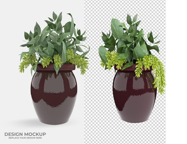 Beautiful plant decoration design scene creator