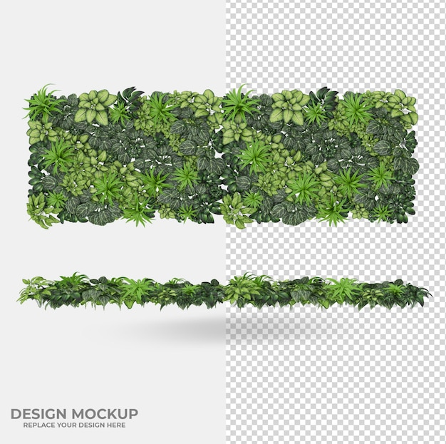Beautiful plants decoration scene creator
