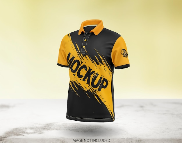 Beautiful polo t-shirt mockup design