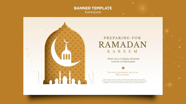 Beautiful ramadan banner template