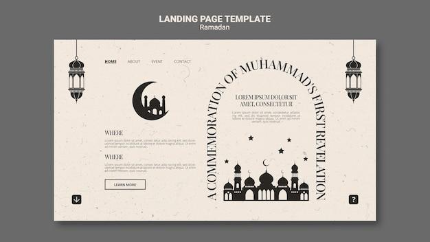 Beautiful ramadan landing page template