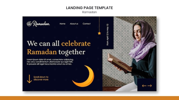 Beautiful ramadan landing page template
