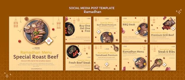Beautiful ramadan social media posts