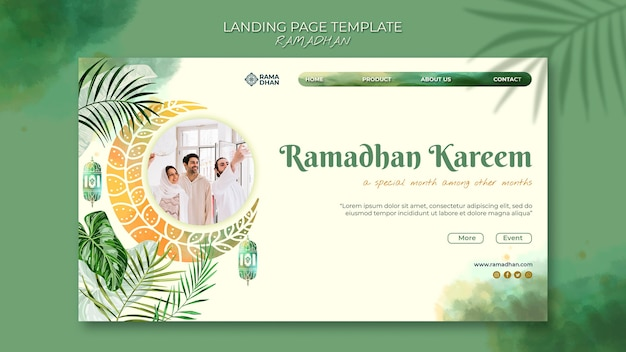 Красивый веб-шаблон рамадан Premium Psd