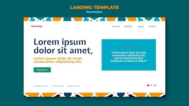 Beautiful ramadan web template