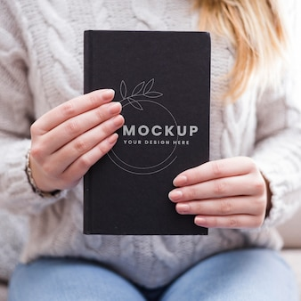 Beautiful reading concept mock-up