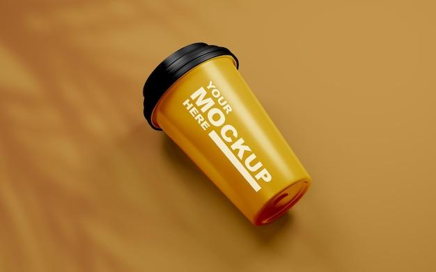 Красивый реалистичный макет кофейной чашки
