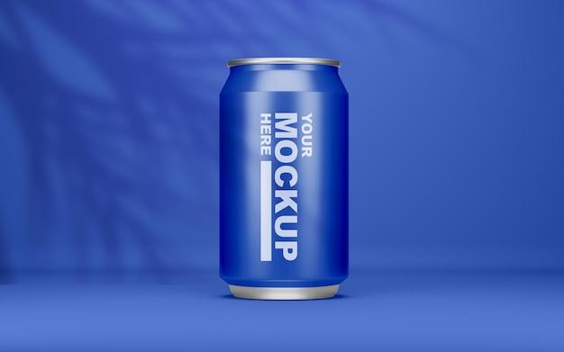 Красивый реалистичный макет банки для напитков