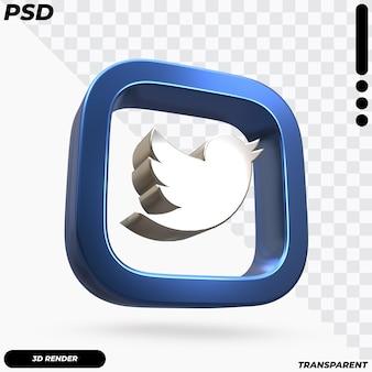 Красивый рендеринг логотипа twitter