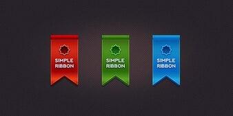 Beautiful ribbon in  colors