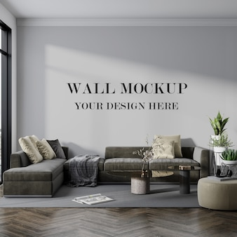 Красивая комната с макетом пустой стены