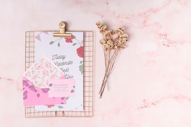 Beautiful save the date card mockup
