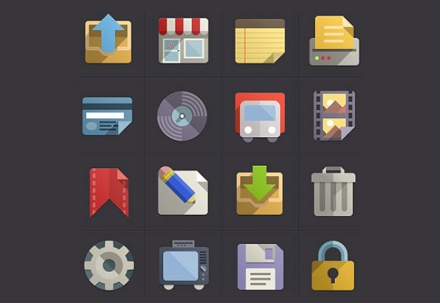 Beautiful set of icon psd