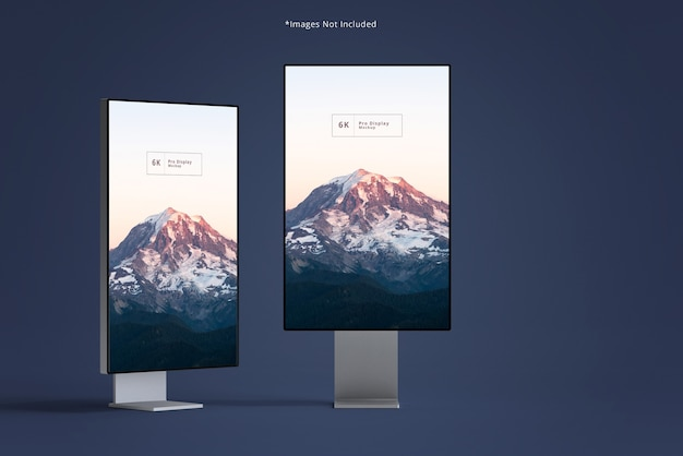 Beautiful slim width display mockups
