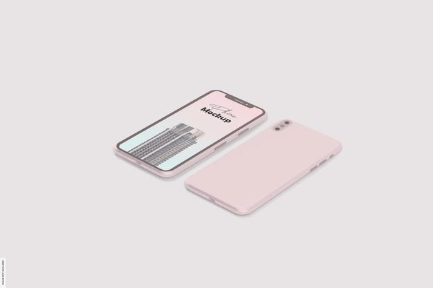 美しいスマートフォンのモックアップ