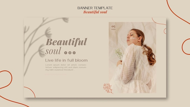 Beautiful soul ad banner template