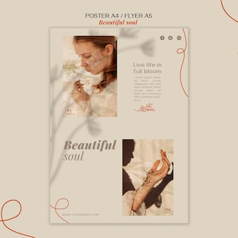 Beautiful soul ad flyer template