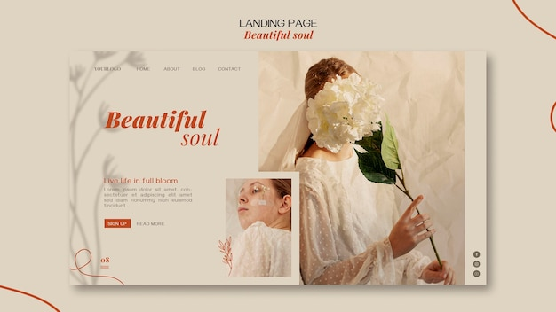 Beautiful soul ad landing page template