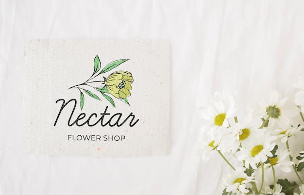 Beautiful spring floral concept mock-up