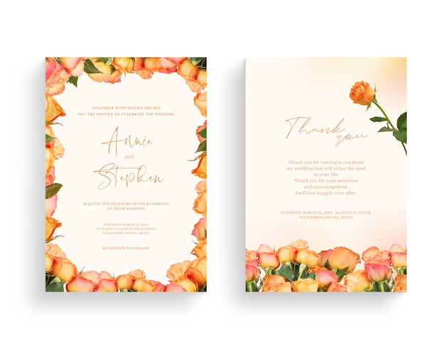 Beautiful spring flower frame, invitation, wedding card, thanks greeting.