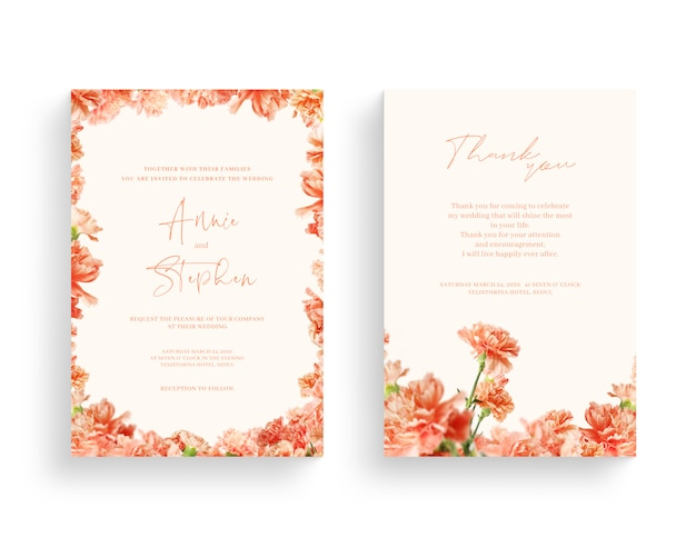Beautiful spring flower frame, invitation, wedding card, thanks greeting