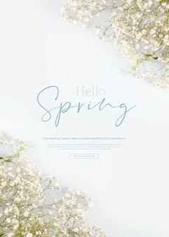 Красивые весенние цветы баннер, тема сезона, привет весна
