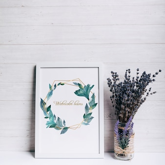 Beautiful spring frame mockup