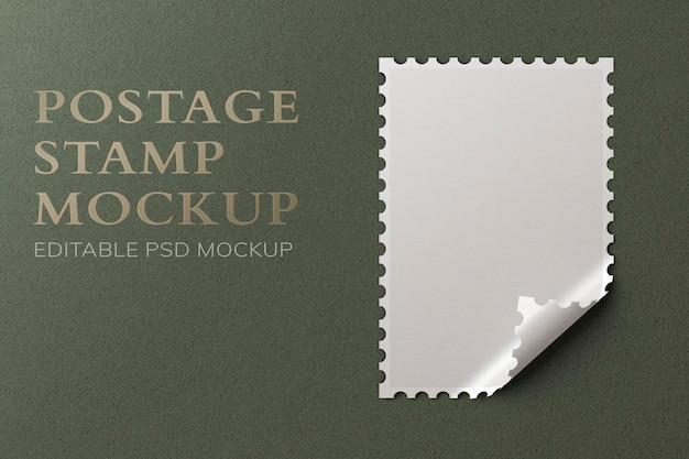 Bellissimo mockup di francobolli