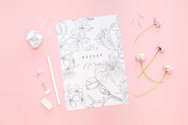 Beautiful stationery minimal concept