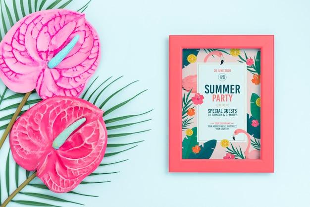 Красивая летняя концепция макета