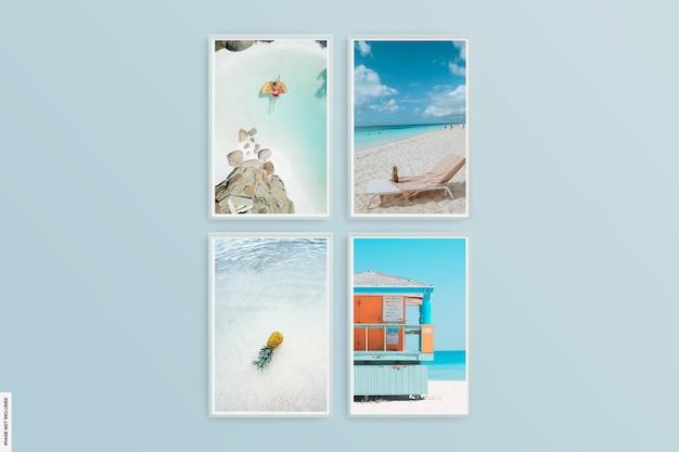 아름다운 여름 프레임 사진 모형
