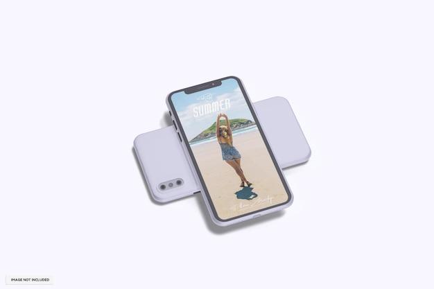 Красивый летний макет телефона