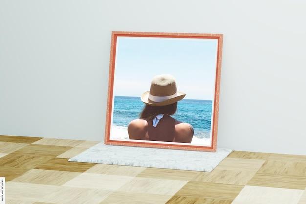 Красивая летняя деревянная рамка для фото