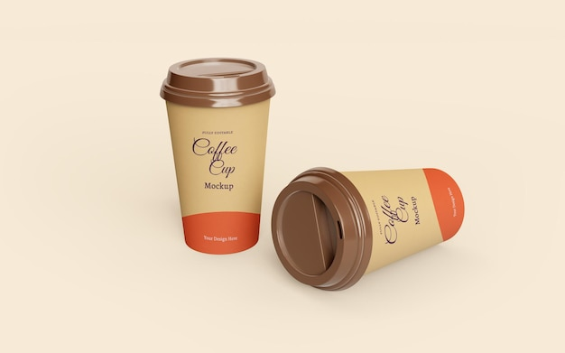 아름다운 테이크 아웃 종이 커피 컵 모형