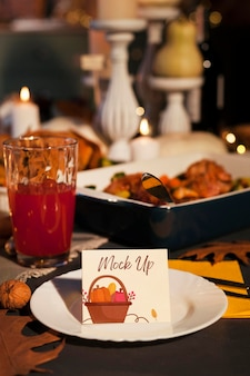 Beautiful thanksgiving concept mock-up