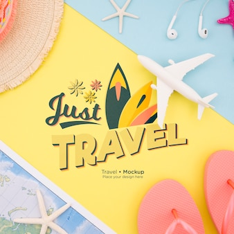 Beautiful travel concept mock-up