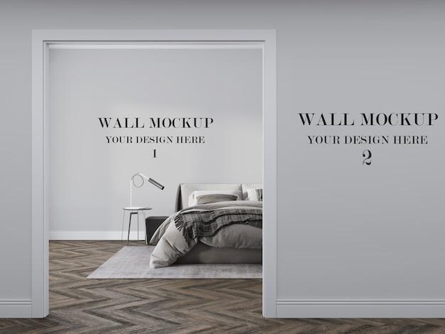 아름다운 두 벽 모형