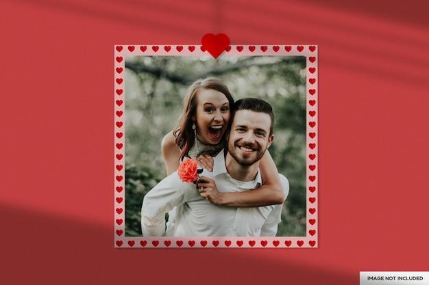 아름다운 발렌타인 종이 프레임 모형
