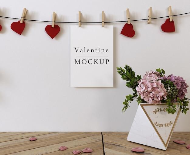 아름다운 발렌타인 데이 컨셉 모형