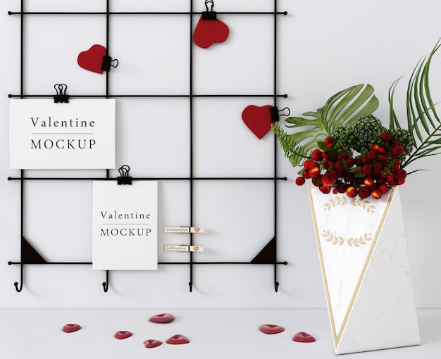 Красивый макет подарочной карты на день святого валентина