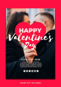 Beautiful valentineâ´s day poster template