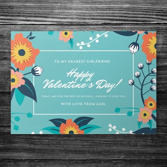 Beautiful valentines day cover mockup
