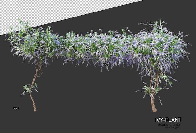 Beautiful variety of flowers in 3d rendering