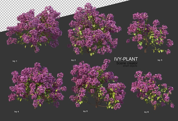 3d 렌더링에서 아름 다운 다양 한 꽃