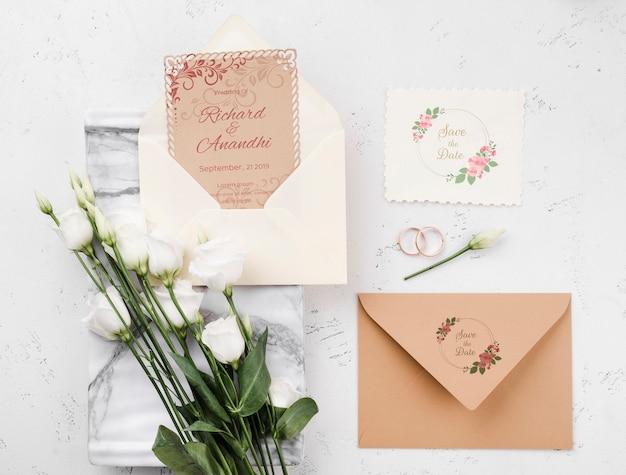 아름 다운 결혼식 개념 모형